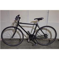 2 BIKES: BLACK NO NAME ROAD BIKE & BLACK DIADORA FRONT SUSPENSION HYBRID BIKE