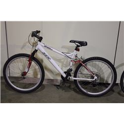 WHITE CCM 24 SPEED FULL SUSPENSION MOUNTAIN BIKE WITH REAR DISC BRAKES