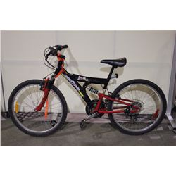 BLACK SUPERCYCLE 18 SPEED FULL SUSPENSION MOUNTAIN BIKE