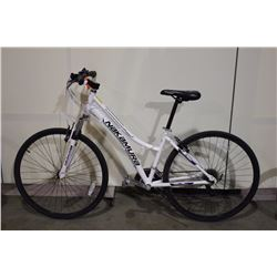 WHITE NAKAMURA 21 SPEED FRONT SUSPENSION HYBRID BIKE