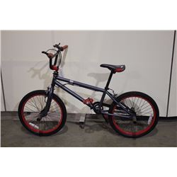 GREY NO NMAE SINGLE SPEED BMX BIKE