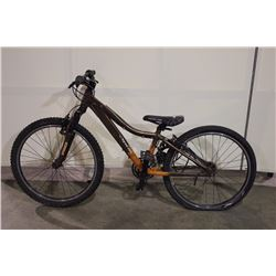 2 BIKES: BROWN OPUS FRONT SUSPENSION MOUNTAIN BIKE & SILVER SUPERCYCLE KIDS BIKE