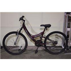 2 BIKES: RED ROADMASTER FRONT SUSPENSION MOUNTAIN BIKE & BLACK SCHWINN FRONT SUSPENSION MOUNTAIN BIK