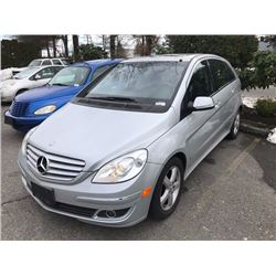 2006 MERCEDES B200, 4 DOOR HATCHBACK, GREY, VIN # WDDFH33X76J025743