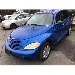 2005 CHRYSLER PT CRUISER, 4 DOOR HB, BLUE, VIN # 3C4F448B95T617178