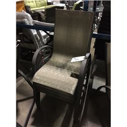 4 MESH BACK METAL STACKING PATIO CHAIRS