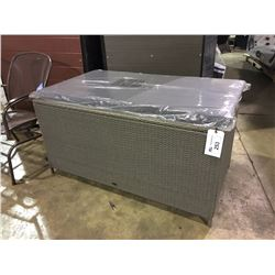PATIO FLARE LARGE GREY WOVEN DECK BOX - IN BOX