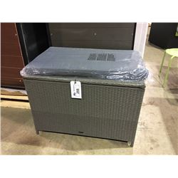 PATIO FLARE SMALL GREY WOVEN DECK BOX