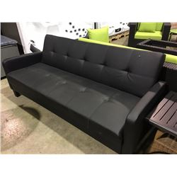 BLACK ADJUSTABLE FUTON COUCH