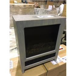 GREY ELECTRIC FIREPLACE SPACE HEATER - ES-328-GY