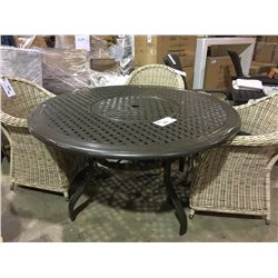 CAST ALUMINUM CIRCULAR LAZY SUSAN OUTDOOR PATIO TABLE