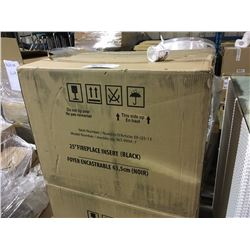 """BLACK GLASS FRONT 25"""" ELECTRIC FIREPLACE INSERT - BLT-999A-7"""
