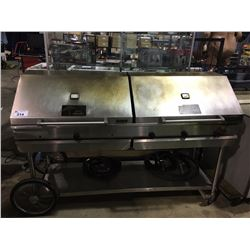 MKE STAINLESS STEEL 2 STATION TERRA GRILL