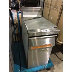 FRYMASTER STAINLESS STEEL DEEP FRYER ON MOBILE CART