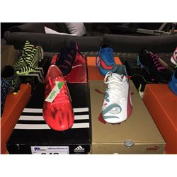 LOT OF ASSORTED SOCCER CLEATS - SIZE 11 US