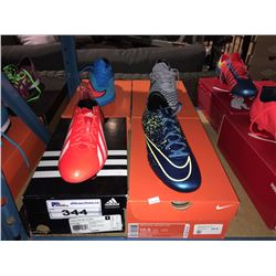 LOT OF ASSORTED SOCCER CLEATS - SIZE 10 US