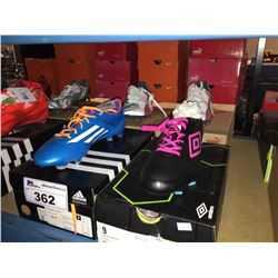 LOT OF ASSORTED SOCCER CLEATS - SIZE 10/9.5/9 US