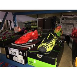LOT OF ASSORTED SOCCER CLEATS - SIZE 8.5 US