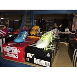 LOT OF ASSORTED SOCCER CLEATS - SIZE 7.5 US
