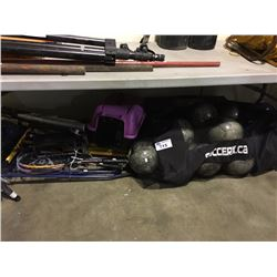 SOCCER BALLS, SPORTS GEAR & CAT CARRIER