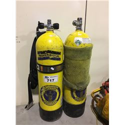 PAIR OF SCUBA TANKS