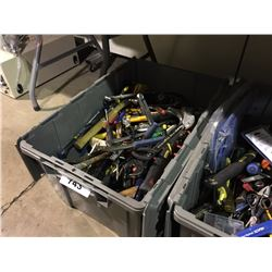 BIN OF ASSORTED HAND TOOLS