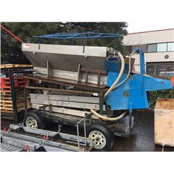 MOBILE GOLD WASH STATION WITH 3 SLUICES, 6.5 HP WATER PUMP, 2 HOSES ON CUSTOM BUILT TRAILER