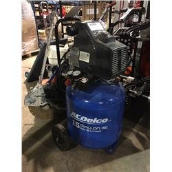 AC DELCO 15 GALLON AIR COMPRESSOR