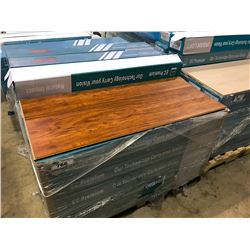PALLET OF TIGER WOOD LAMINATE FLOORING