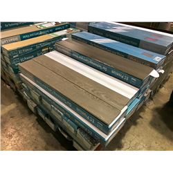 PALLET OF MIXED COLOR LAMINATE FLOORING