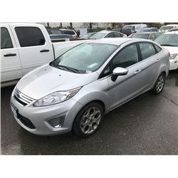 2011 FORD FIESTA SEL, 4 DOOR SEDAN, GREY, VIN # 3FADP4CJ5BM188321