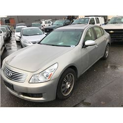 2008 INFINITI G35X, 4 DOOR SEDAN, GREY, VIN # JNKBV61F28M258278