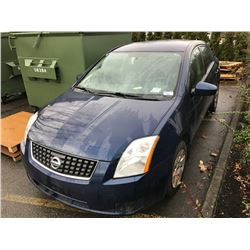 2007 NISSAN SENTRA 2.0L, 4 DOOR SEDAN, BLUE, VIN # 3N1AB61E17L677098
