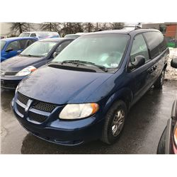 2003 DODGE GRAND CARAVAN SPORT, PASS VAN, BLUE, VIN # 2D4GP44353R174441