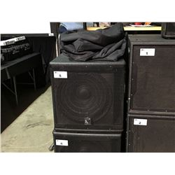 PK SOUND KLARITY 18 ACTIVE 1 X 18'' 1000 WATT SUBWOOFER, WITH HEAVY DUTY CASTERS AND COVER