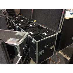 CUSTOM PK SOUND ROAD CASE, HOLDS 4X KLARITY 12 SPEAKERS, 39.5'' H X 48'' W X 24'' D