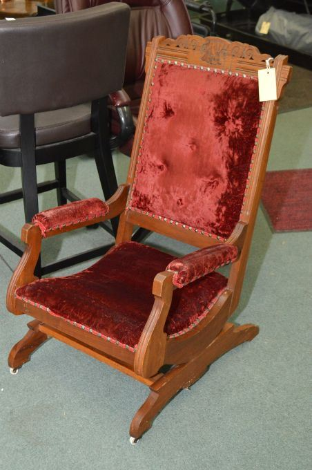 ... Image 3 : Six Antique Eastlake Chairs Including Four Dining Chairs,  Open Arm Parlour Chair