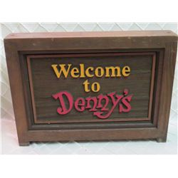 Welcome to Denny's Sign