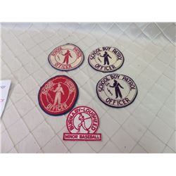 School Crossing Guard Patches 1951