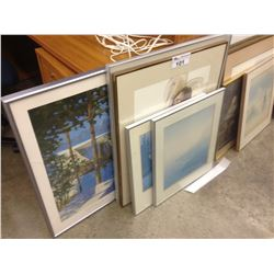 LOT OF 5 FRAMED PRINTS