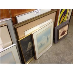 LOT OF 4 FRAMED PRINTS