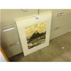 FRAMED ARTIST PROOF PRINT, 'THE PEAK' BY UNKNOWN ARTIST