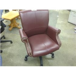 OX BLOOD LEATHER TRADITIONAL HIGH BACK EXECUTIVE CHAIR