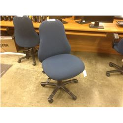 NAVY PYRUS FULLY ADJUSTABLE TASK CHAIR, NO ARMS