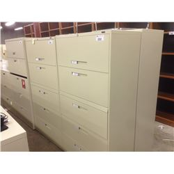 GLOBAL BEIGE 5 DRAWER LATERAL FILE CABINET