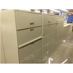 HON BEIGE 5 DRAWER LATERAL FILE CABINET