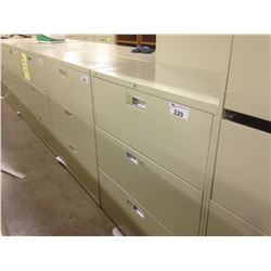 HON BEIGE 3 DRAWER LATERAL FILE CABINET