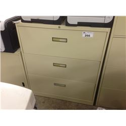 STEELCASE BEIGE 3 DRAWER LATERAL FILE CABINET