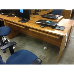 CHERRY 6' 2 PERSON COMPUTER TABLE