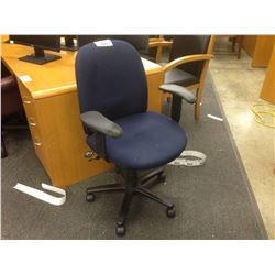 BLUE FULLY ADJUSTABLE MID BACK TASK CHAIR